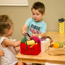 students playing at Little Orchard